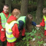 Looking for living things in the woods