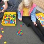 We enjoyed making tiling patterns with shapes