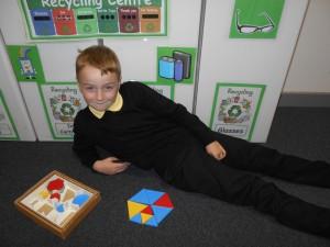 P3 enjoyed making 2D shapes.