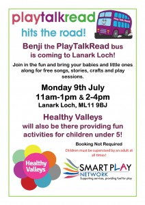 PlayTalkRead Lanark Loch 9th July 18