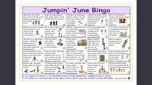 Jumpin' June Bingo